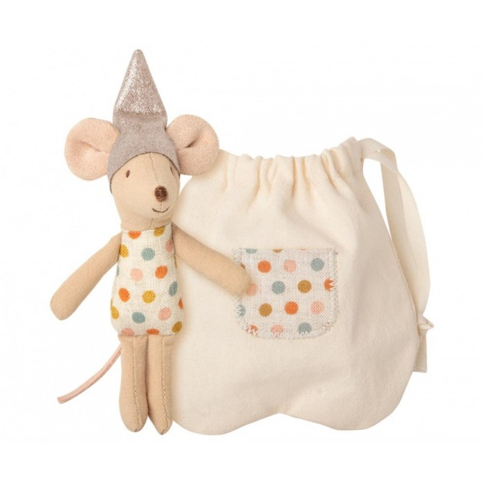 Jucarie textila - TOOTH FAIRY MOUSE IN MATCHBOX - LITTLE SISTER - Maileg