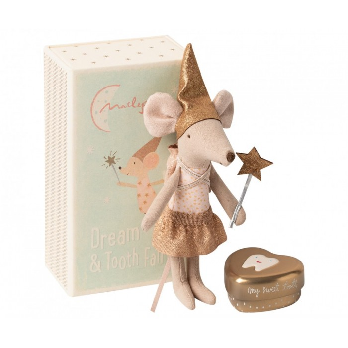 Jucarie textila - TOOTH FAIRY MOUSE IN MATCHBOX - BIG SISTER - Maileg