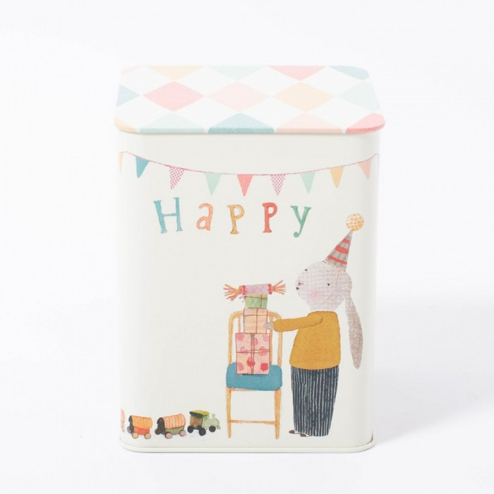 Jucarie textila - HAPPY DAY BUNNY IN BOX - Maileg