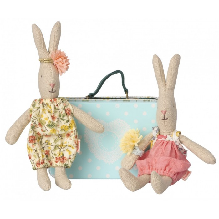 Jucarie textila - MICRO RABBIT W. 2 SETS OF CLOTHES - Maileg