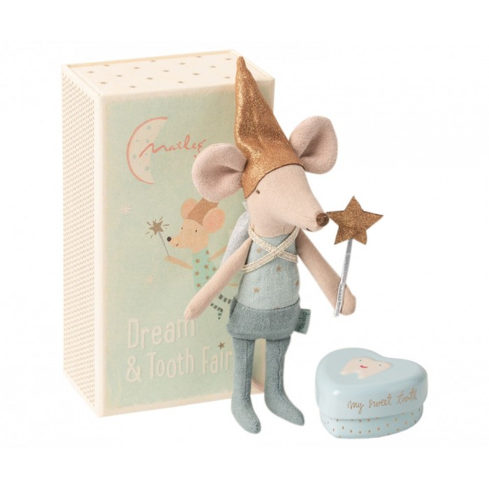 Jucarie textila - TOOTH FAIRY MOUSE IN MATCHBOX - BIG BROTHER - Maileg