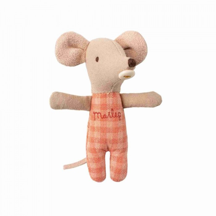 Jucarie textila - BABY MOUSE IN CARRYCOT - Maileg