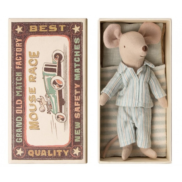 Jucarie textila - MOUSE IN MATCHBOX - BIG BROTHER - Maileg