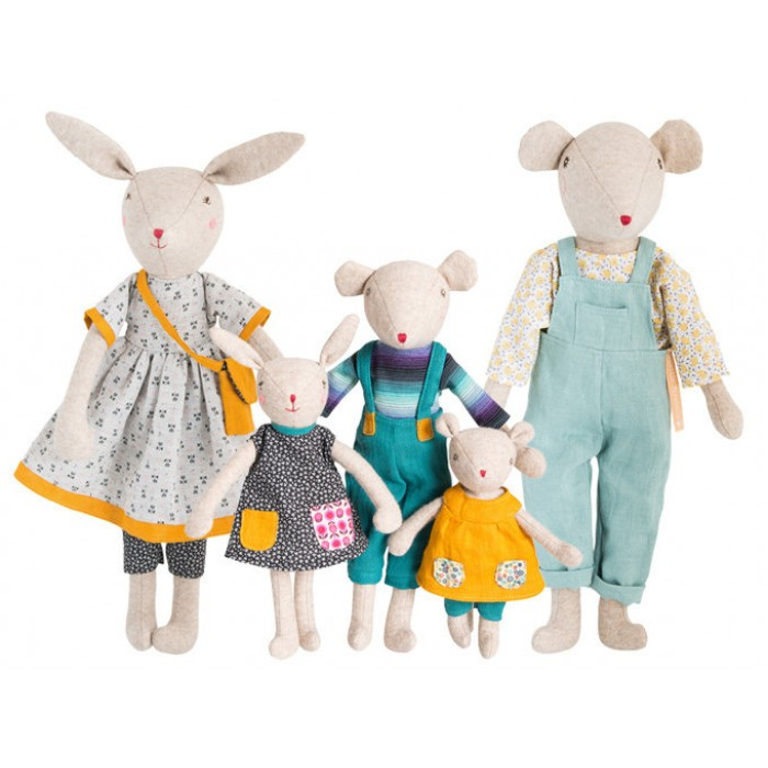 Jucarie textila - Chicore Daddy Mouse - La Famille Mirabelle - Moulin Roty