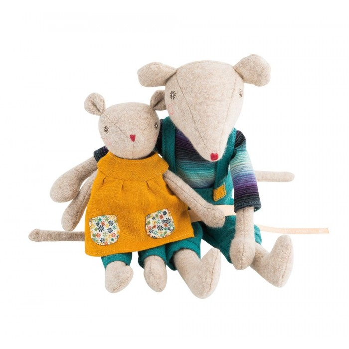 Jucarie textila - Groseille Tiny Sister Mouse - La Famille Mirabelle - Moulin Roty