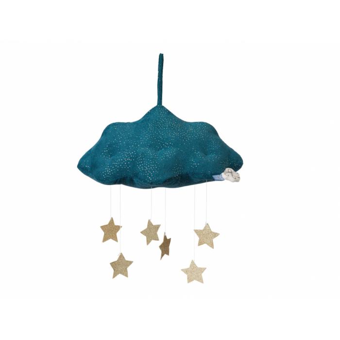 Nor decorativ cu stelute aurii - albastru - PICCA LOULOU
