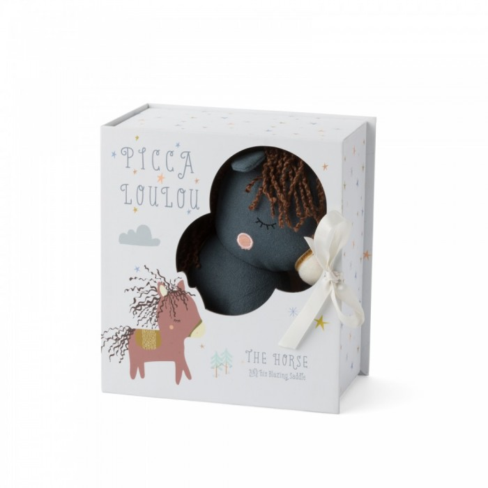 Jucarie textila confectionata manual - Calul Henry - PICCA LOULOU