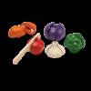 Set de 5 legume din lemn pentru feliat - Plan Toys