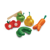 Set haios de fructe si legume din lemn pentru feliat - Plan Toys