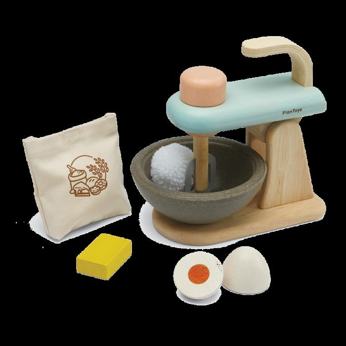 Set cu mixer din lemn pentru micul patiser - Plan Toys