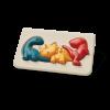 Puzzle din lemn cu familia de dinozauri - Plan Toys
