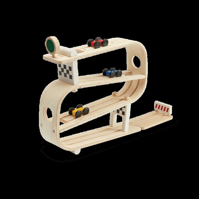 Joc din lemn - Pista cu masinute - Plan Toys