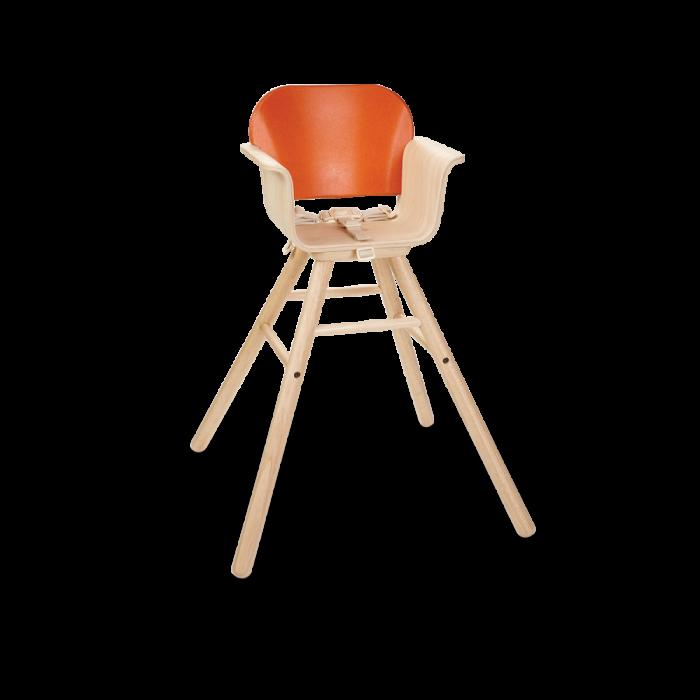 Scaun de masa din lemn pentru bebelusi - Portocaliu - Plan Toys