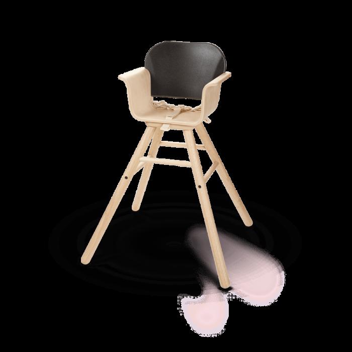 Scaun de masa din lemn pentru bebelusi - Negru - Plan Toys