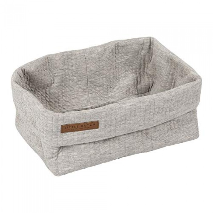 Coș de depozitare din bumbac– Little Dutch - Pure  Grey