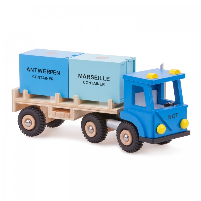 Camion  cu 2 containere - colectia Harbor Line - New Classic Toys